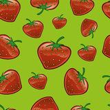 Strawberry Repeat Pattern Stock Images