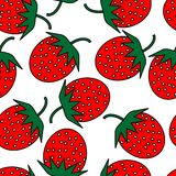 Strawberry repetition. Simple seamless red strawberry background Royalty Free Stock Photos