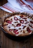 Strawberry and Rhubarb Cake Royalty Free Stock Photos