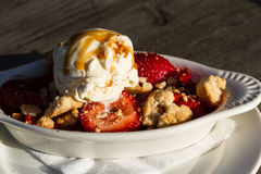 Strawberry rhubarb desert Royalty Free Stock Images