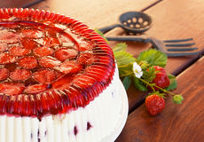 Strawberry rhubarb pie Stock Photography