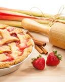 Strawberry Rhubarb Pie Stock Image