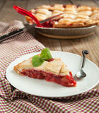 Strawberry and rhubarb pie Stock Photography