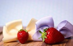 strawberry ribbon fresh fruit Royalty Free Stock Image