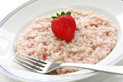 Strawberry risotto Royalty Free Stock Photography