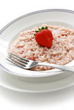 Strawberry risotto Royalty Free Stock Images