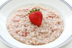 Strawberry risotto Stock Photos