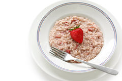 Strawberry risotto Royalty Free Stock Image