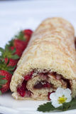Strawberry Roll (Rulltårta) Royalty Free Stock Photography