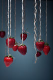 Strawberry on a rope Stock Photo