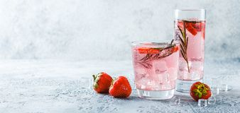 Strawberry and rosemary drink royalty free stock photography