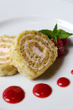 Strawberry Roulade Stock Photo