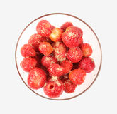 Strawberry in a round glass bowl Stock Photo