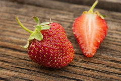 Strawberry on rustic wooden background. Selective focus Royalty Free Stock Photo