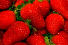 Strawberry's background Stock Photo