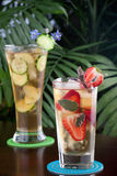 Strawberry Sage and Ginger Cucumber Iced Tea Stock Photography