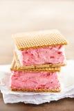 Strawberry sandwich ice cream Stock Photos