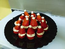 Strawberry Santas Stock Images