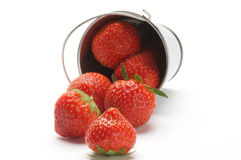 Strawberry Scattered from Bucket Stock Photos