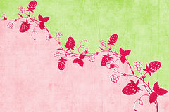 Strawberry Scrapbook Background Stock Images