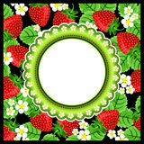 Strawberry Scrapbook Photo Frame Stock Image