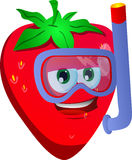 Strawberry scuba diver Royalty Free Stock Photography