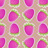 Strawberry seamless Stock Photos