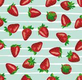 Strawberry. seamless background Royalty Free Stock Images