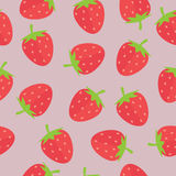 Strawberry Seamless Background. Strawberry seamless vector  background with flat style Stock Illustration