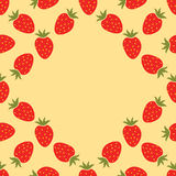 Strawberry seamless frame Stock Images