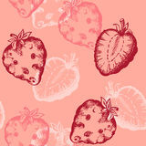 Strawberry seamless pattern Stock Photos