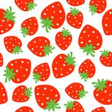 Strawberry seamless pattern Royalty Free Stock Photos