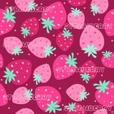Strawberry seamless pattern Royalty Free Stock Image