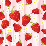 Strawberry seamless pattern Royalty Free Stock Photography