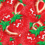 Strawberry seamless pattern background Stock Image