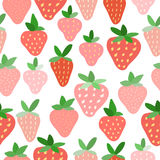 Strawberry seamless pattern background. Royalty Free Stock Photos