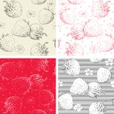 Strawberry seamless pattern backgrounds Stock Photography