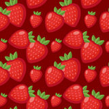 Strawberry seamless pattern. Berry endless background, texture. Fruits background. Vector illustration. Strawberry seamless pattern. Berry endless background Royalty Free Stock Image