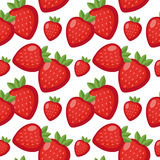 Strawberry seamless pattern. Berry endless background, texture. Fruits  Stock Image