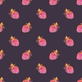 Strawberry. Seamless pattern with cosmic or galaxy Stock Photo