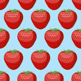 Strawberry seamless pattern. Fresh, red, ripe strawberry  Stock Photos