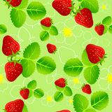Strawberry seamless pattern. Illustration of strawberry seamless pattern Stock Image