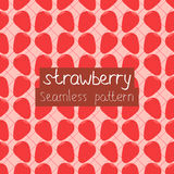 Strawberry seamless pattern. Strawberry pattern on a pink square background royalty free illustration