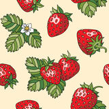 Strawberry seamless pattern. Seamless pattern with red juicy strawberries. Vector illustrations vector illustration