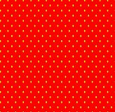 Strawberry seamless pattern with seeds. Royalty Free Stock Image