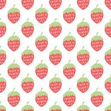 Strawberry seamless pattern Stock Images