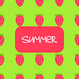 Strawberry seamless pattern Stock Photo