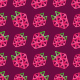 Strawberry seamless pattern - vector texture Stock Images