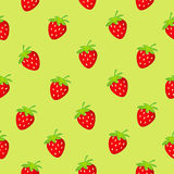Strawberry seamless Stock Image