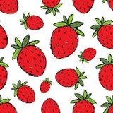 Strawberry seamless pattern for your design Stock Image